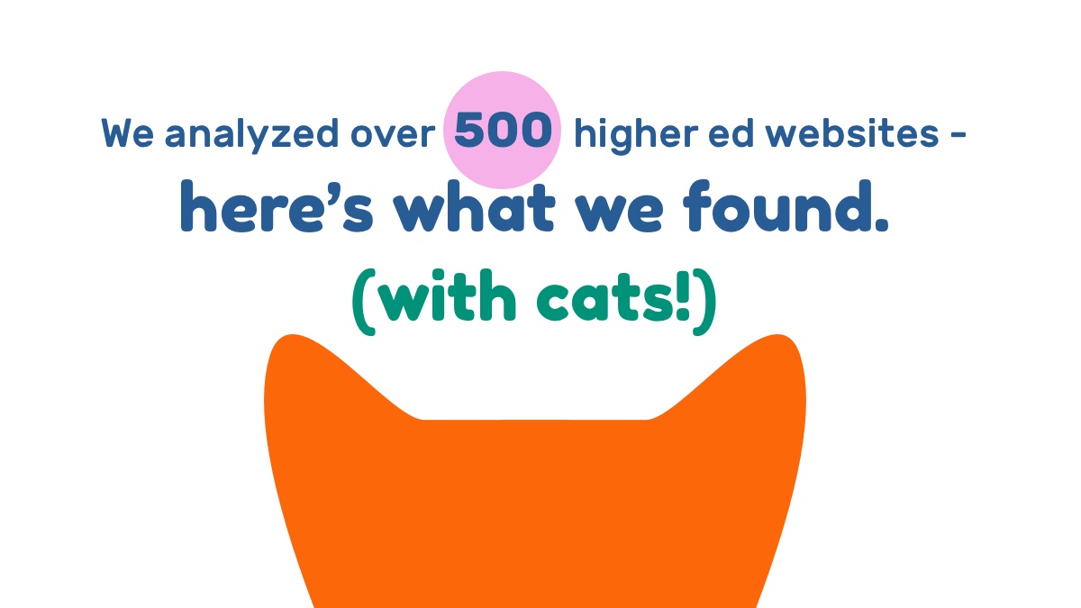 We analyzed over 500 higher ed websites - here's what we found (with cats!)